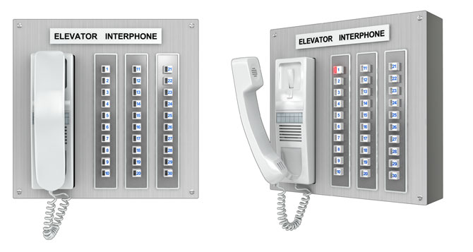 Elevator interphones